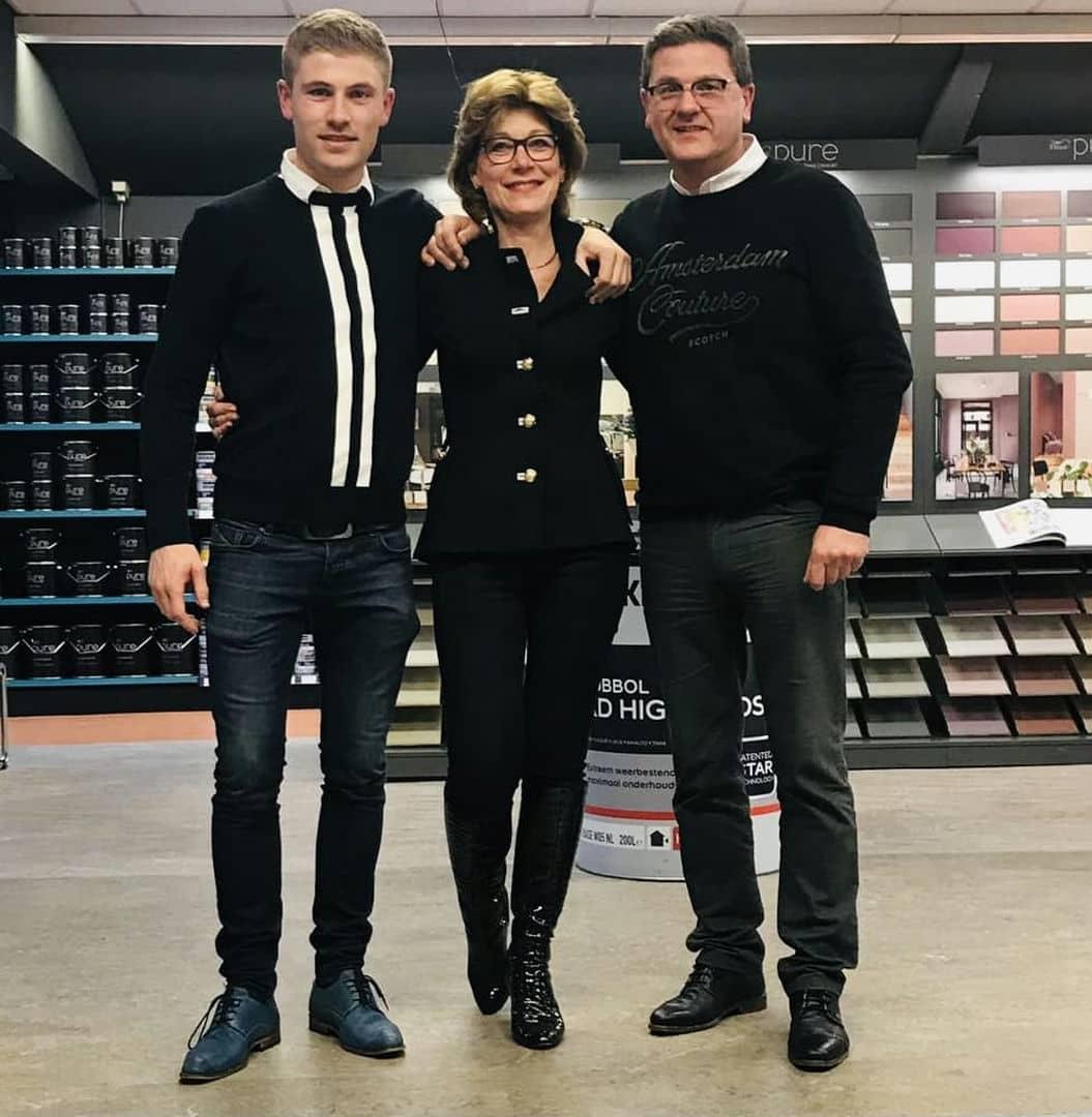 Familie Heine: Maurice, Gerda en Harrie